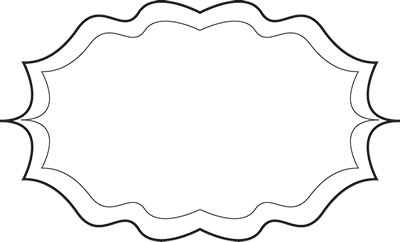 Fancy Black And White Frame   Fancy Black And White Elegant Frame With