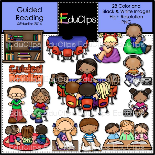 Guided Reading Clip Art Bundle  Color And B W    Welcome To Educlips
