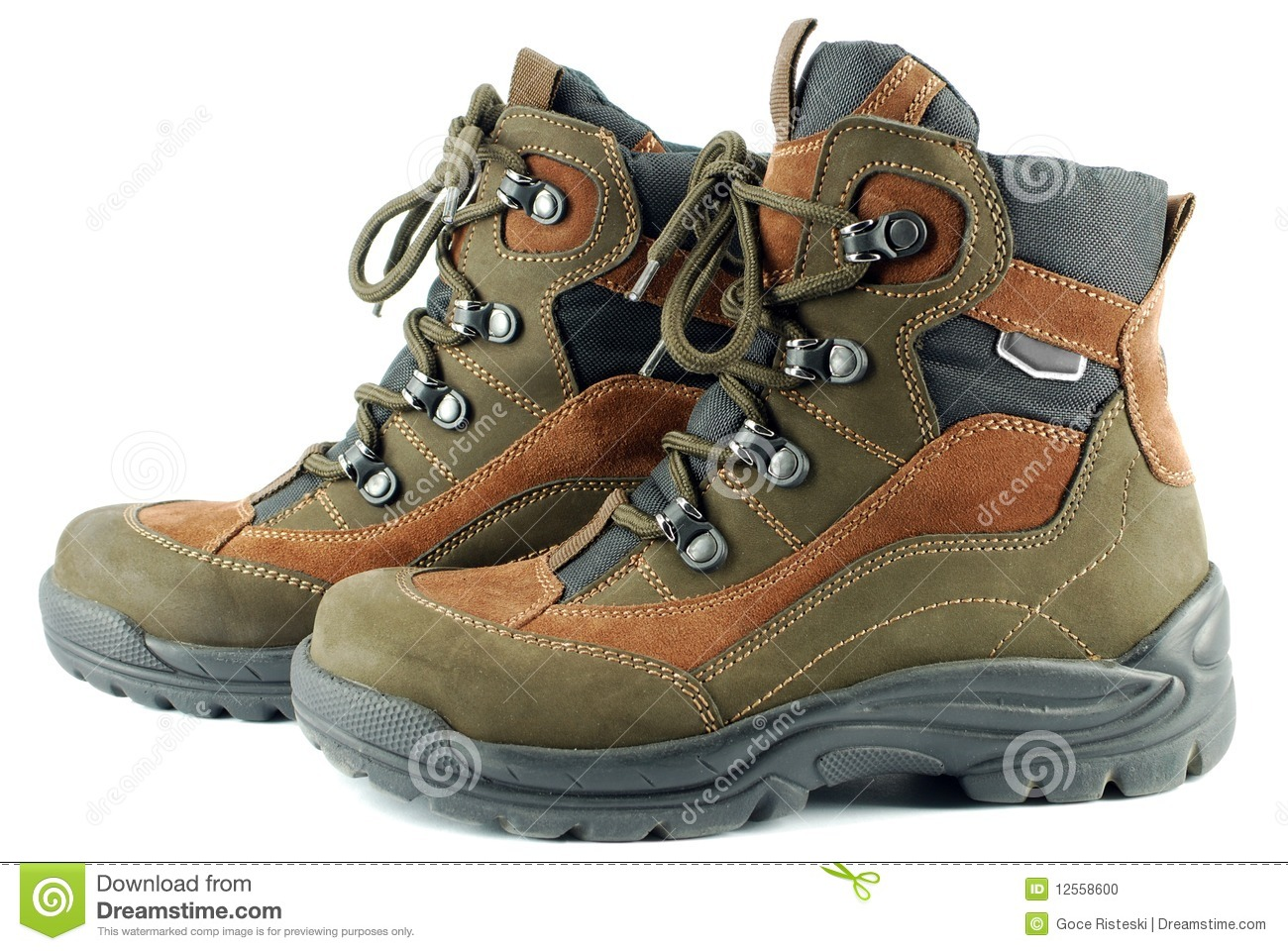 Hiking Boots Stock Photo   Image  12558600
