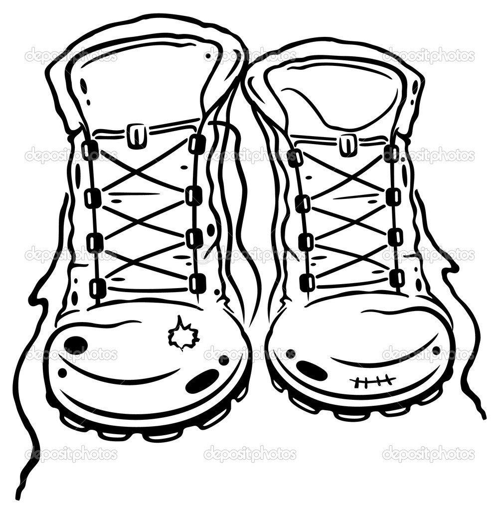 Hiking Boots   Stock Vector   Christine Krahl  37489229