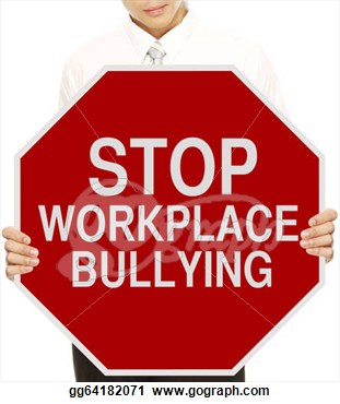 Holding A Modified Stop Sign On Workplace Bullying  Clipart Gg64182071