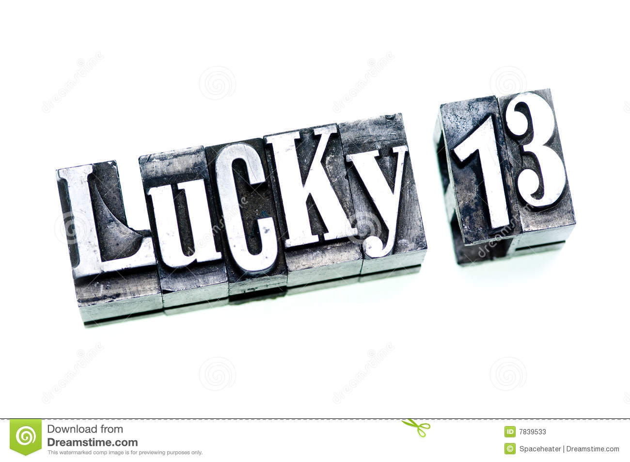 Lucky 13 Stock Photos   Image  7839533