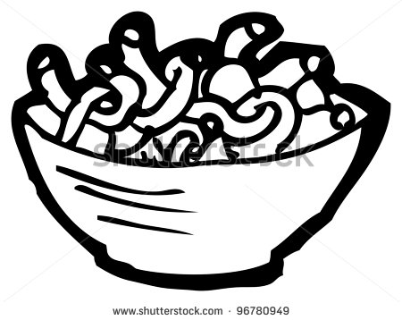 Noodles Clipart Black And White Noodles Clipart Black