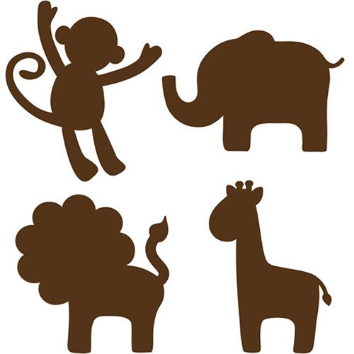 Cute animal silhouettes