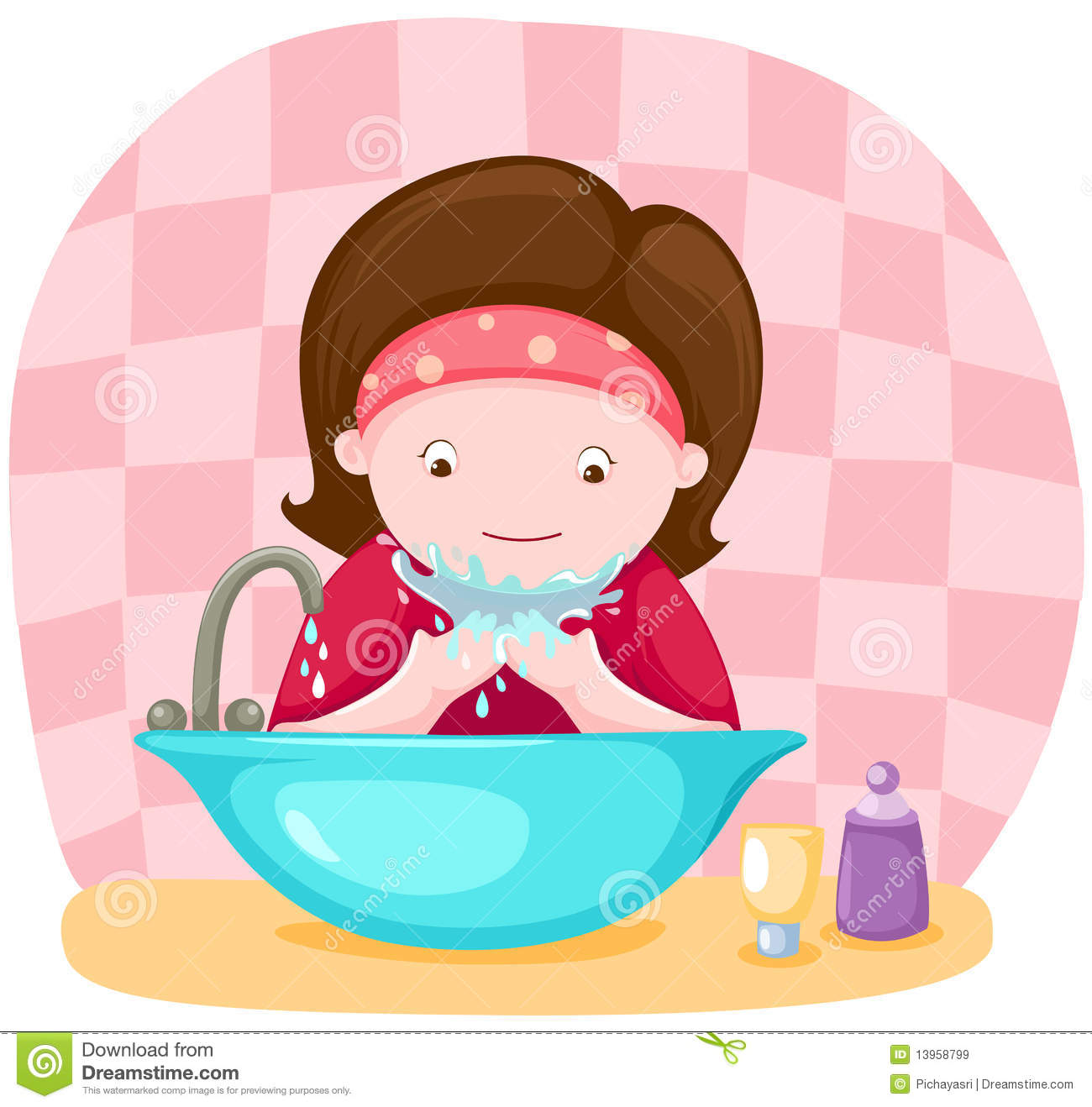 Royalty Free Stock Images  Girl Washing Her Face