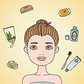 Wash Face Stock Illustrations   Gograph