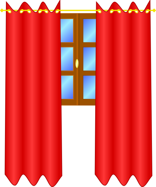 Window With Draperies Clip Art At Clker Com   Vector Clip Art Online