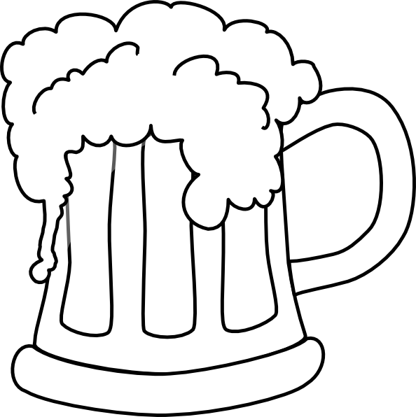 Beer Mug Outlined 2 Clip Art At Clker Com   Vector Clip Art Online