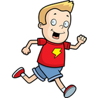 Clip Art Image Gallery   Search  Boy Running Happy Cartoon Smiling