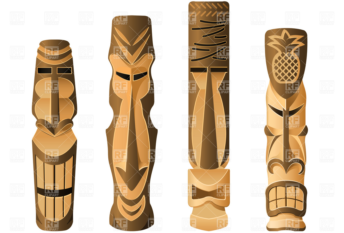Clipart Catalog   Travel   Tikis Download Royalty Free Vector Clipart