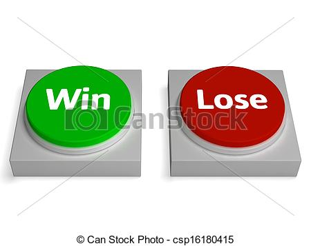 Clipart Of Win Lose Buttons Show Winning Or Losing   Win Lose Buttons