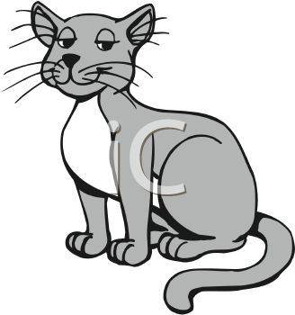Gray And White Cat Clipart Clipart Suggest