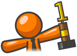 Last Place Trophy Clipart Clip Art Graphic Of An Orange