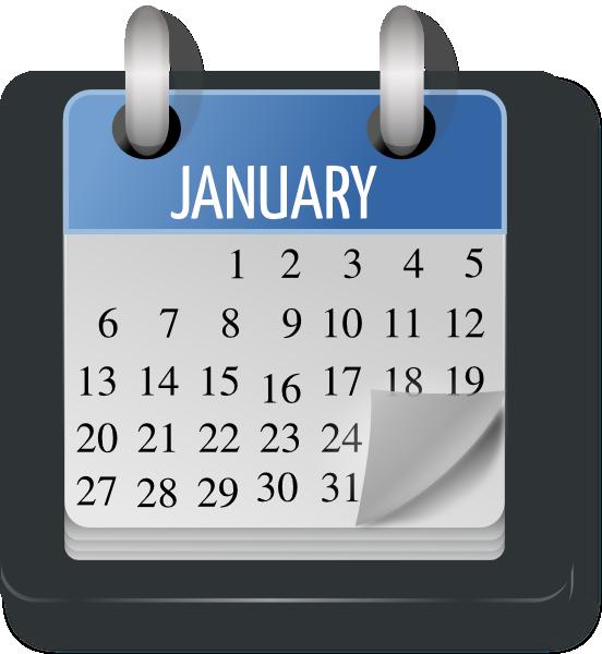 Monthly Calendar Clip Art At Clker Com Vector Clip Art Online