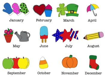 Image Gallery monthly clip art files
