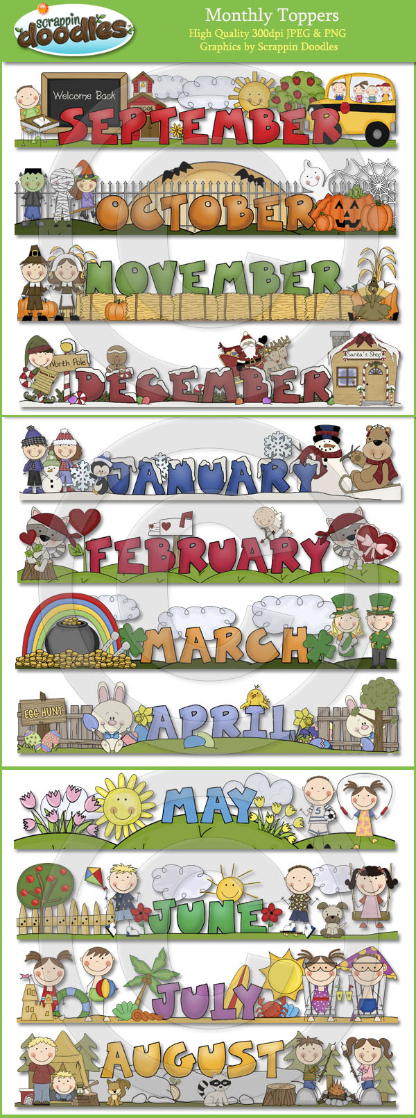 Monthly Clipart - Clipart Kid