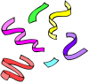 Party Streamers Clip Art