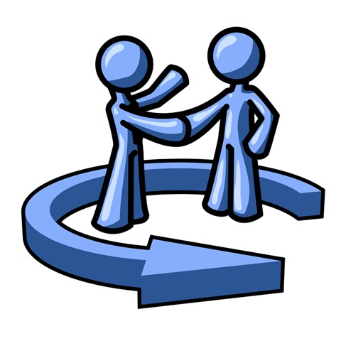 Shaking Hands With A Client While Making A Deal Clipart Illustration
