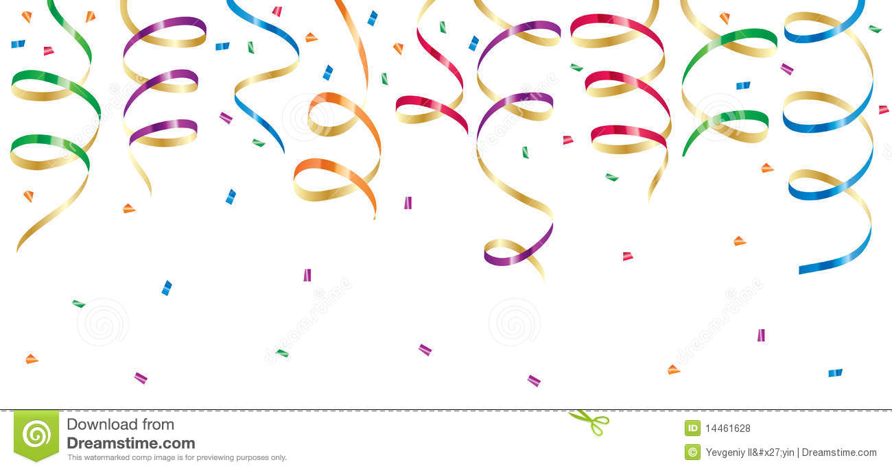 Streamers Clipart Party Streamers Royalty Free