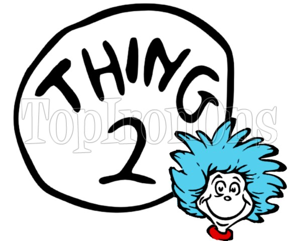 Thing 1 And Thing 2 Clipart   Cliparthut   Free Clipart