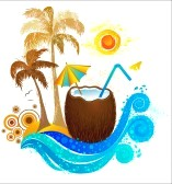 Travel To Paradise  Clipart