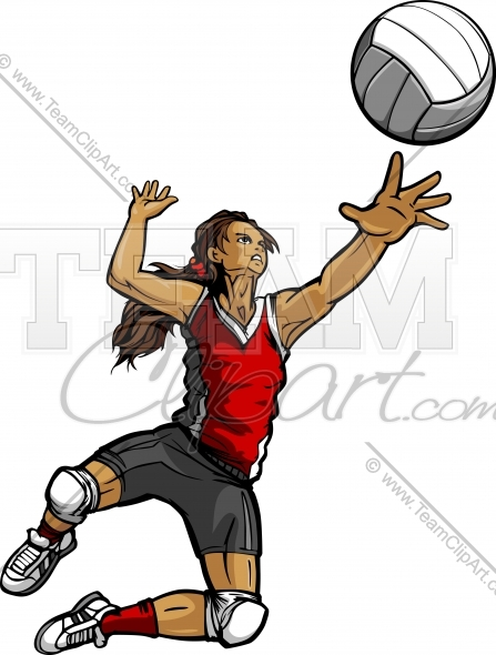 volleyball spike clipart - photo #22