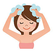 Washing Hair Stock Illustrations   Gograph
