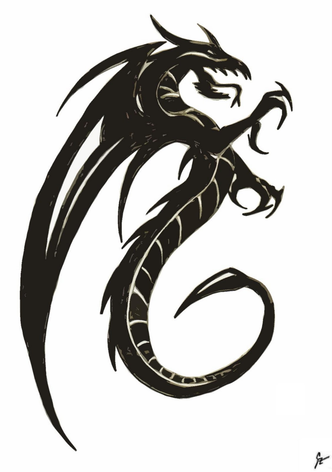 11 Easy Dragon Drawings Black And White   Free Cliparts That You Can