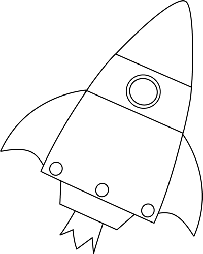 Black And White Rocket Blasting Off Clip Art   Black And White Rocket