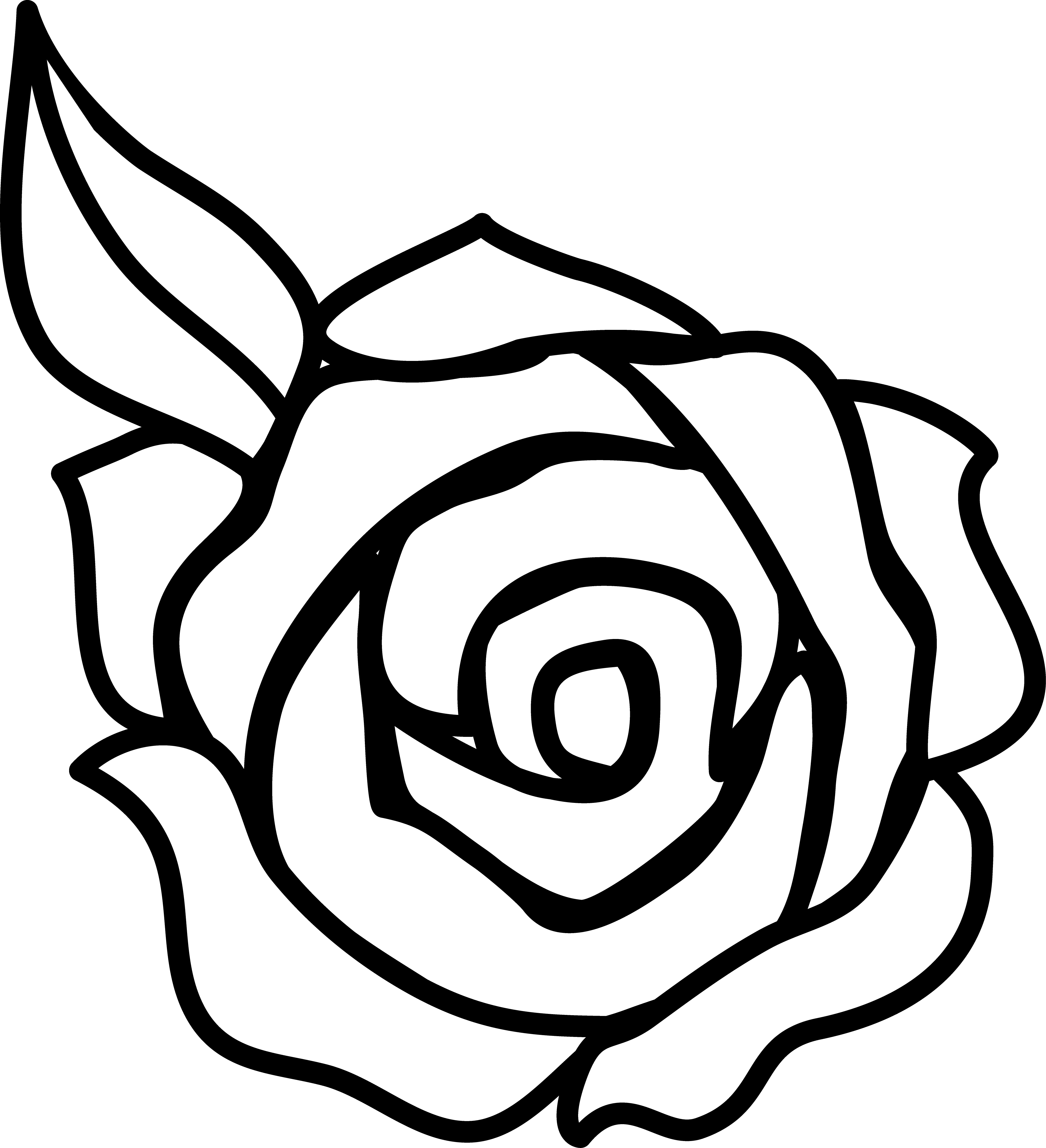 Black And White Rose Border Clip Art   Clipart Panda   Free Clipart