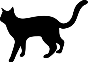 Cat Clipart Image   Silhouette Of A Cat