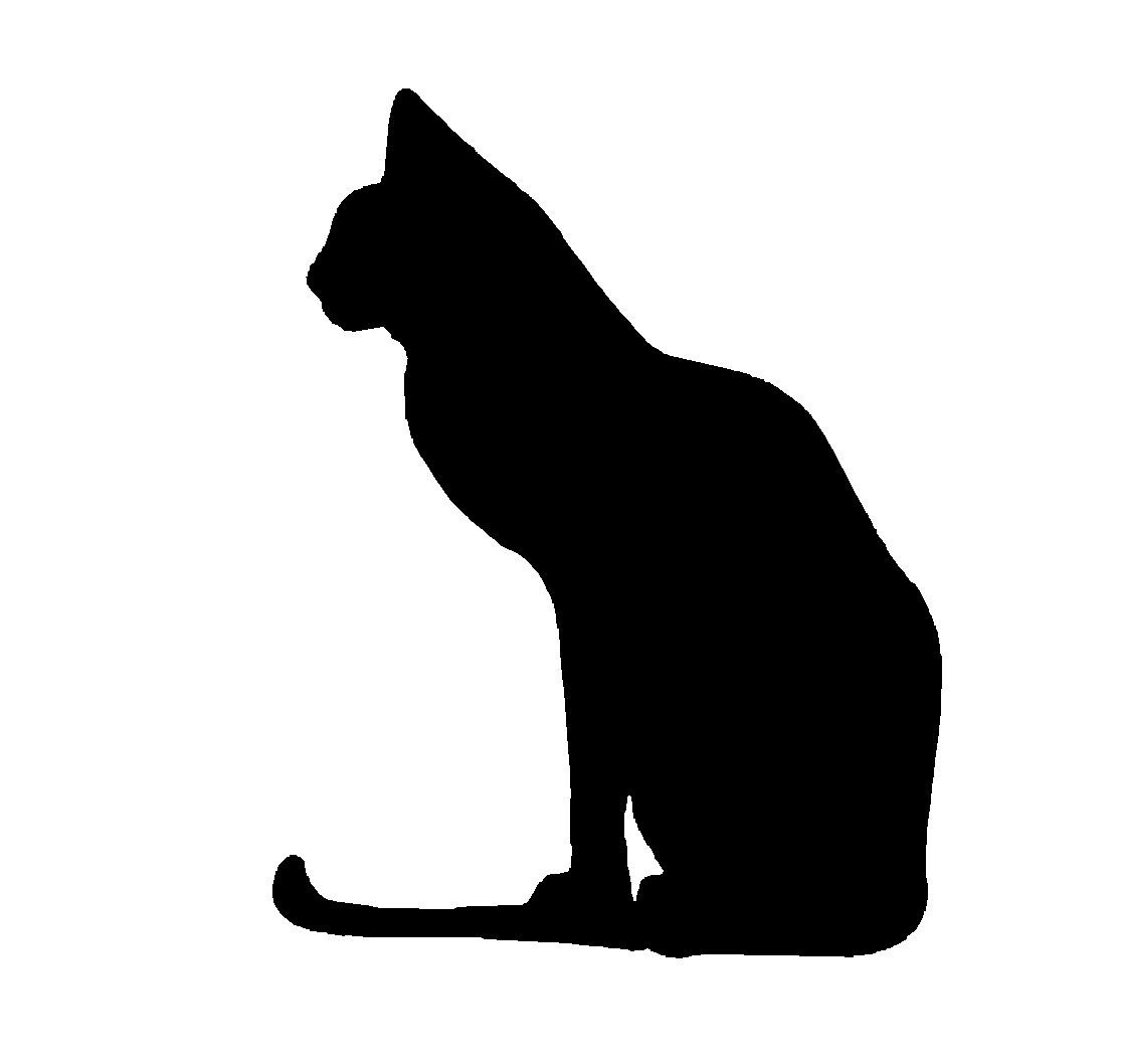 Cat Silhouette Vector Clipart - Clipart Kid