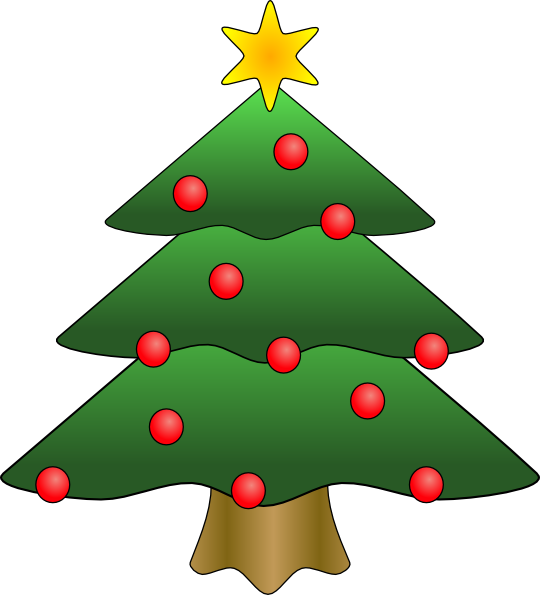 Christmas Tree Clip Art At Clker Com   Vector Clip Art Online Royalty