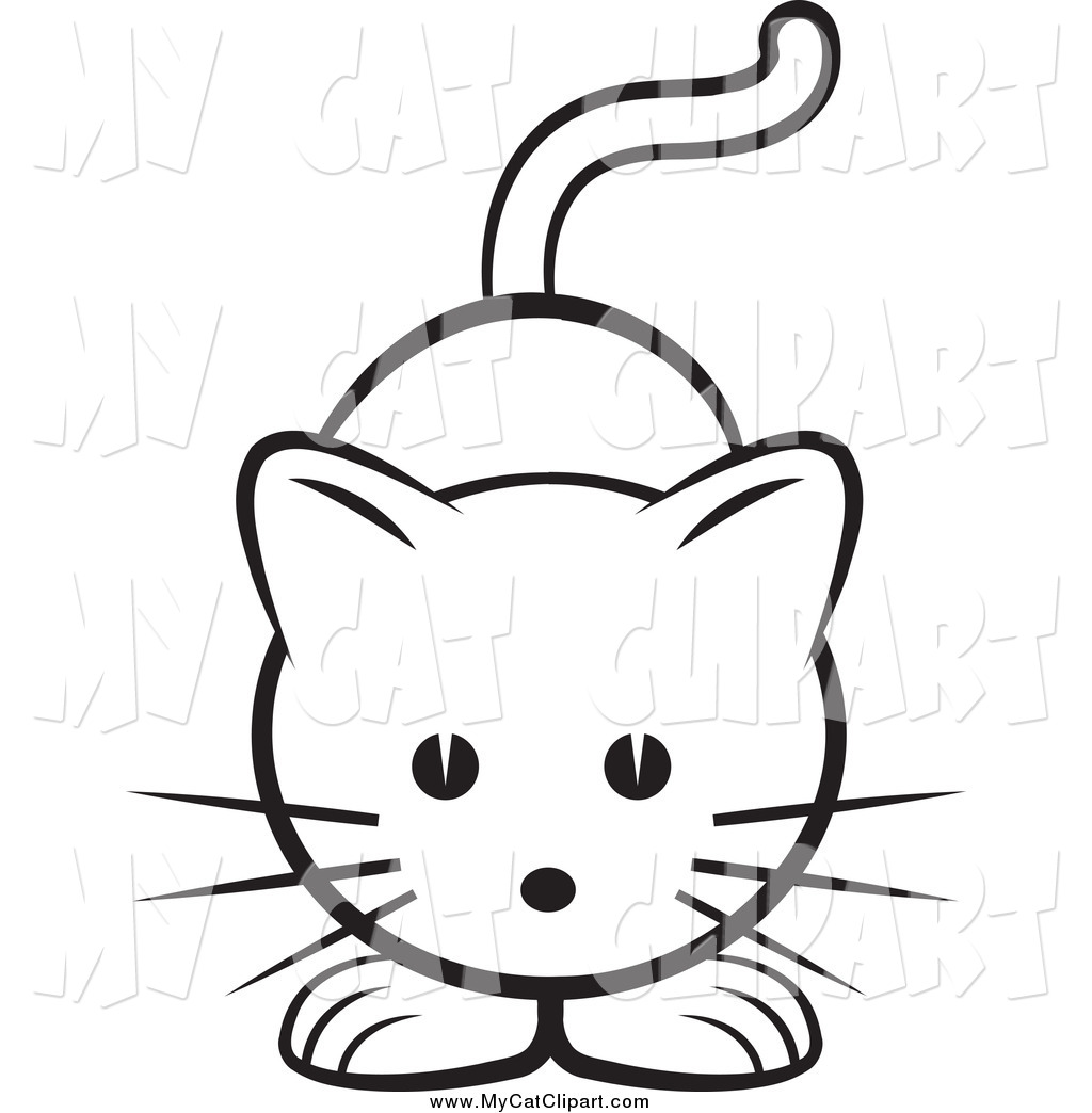 Clip Art Of A Black And White Cat By Lal Perera    2220