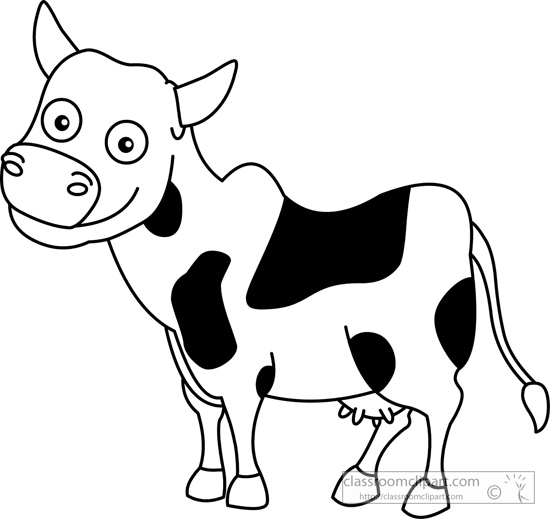 Clip Black And White Cow With A Downloads Cow Clip Art Black And White
