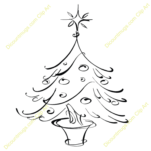Clipart 12173 Small Christmas Tree In Planter   Small Christmas Tree