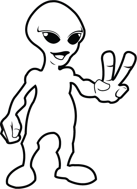 Clipartfort  Fantasy   Sci Fi   Aliens And Outer Space   Peace Alien