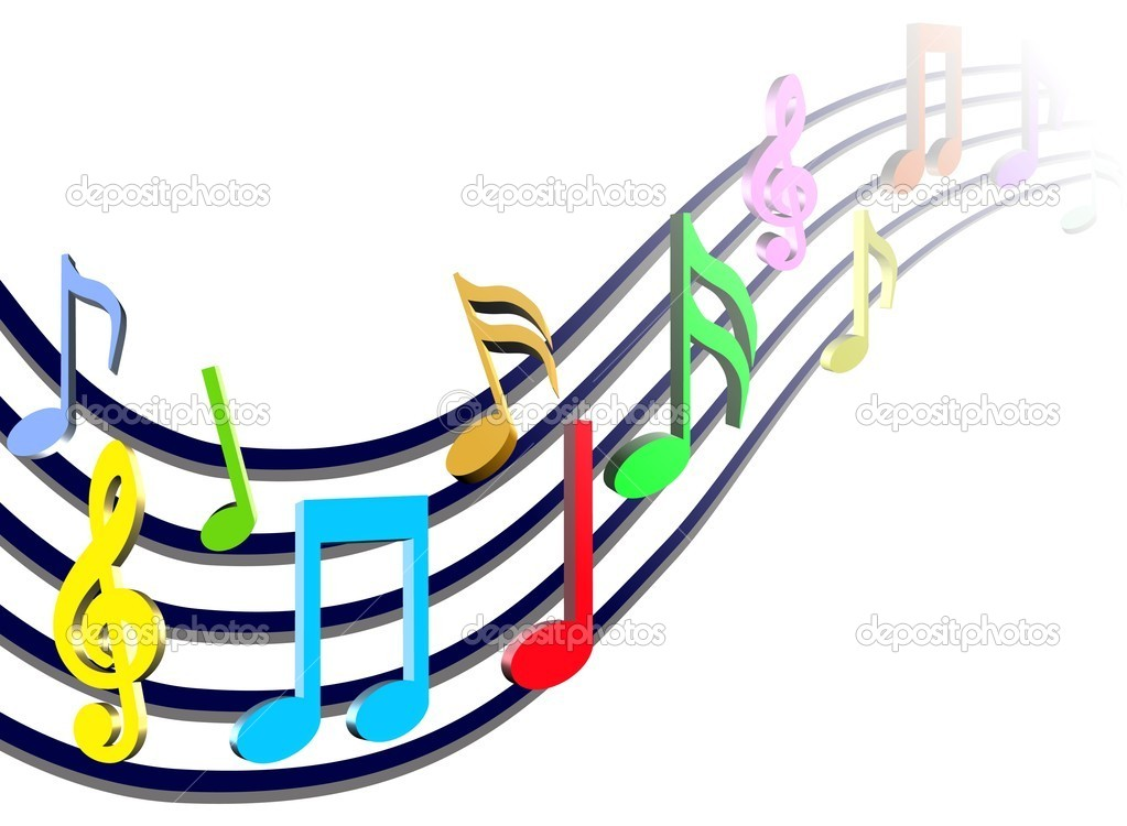 Colorful Music Notes   Stock Photo   Snehitdesign  7821182
