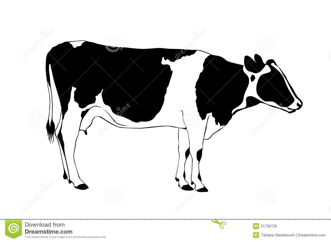 Cow clip art black and white