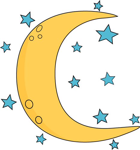 Crescent Moon And Stars Clip Art Crescent Moon And Stars Image