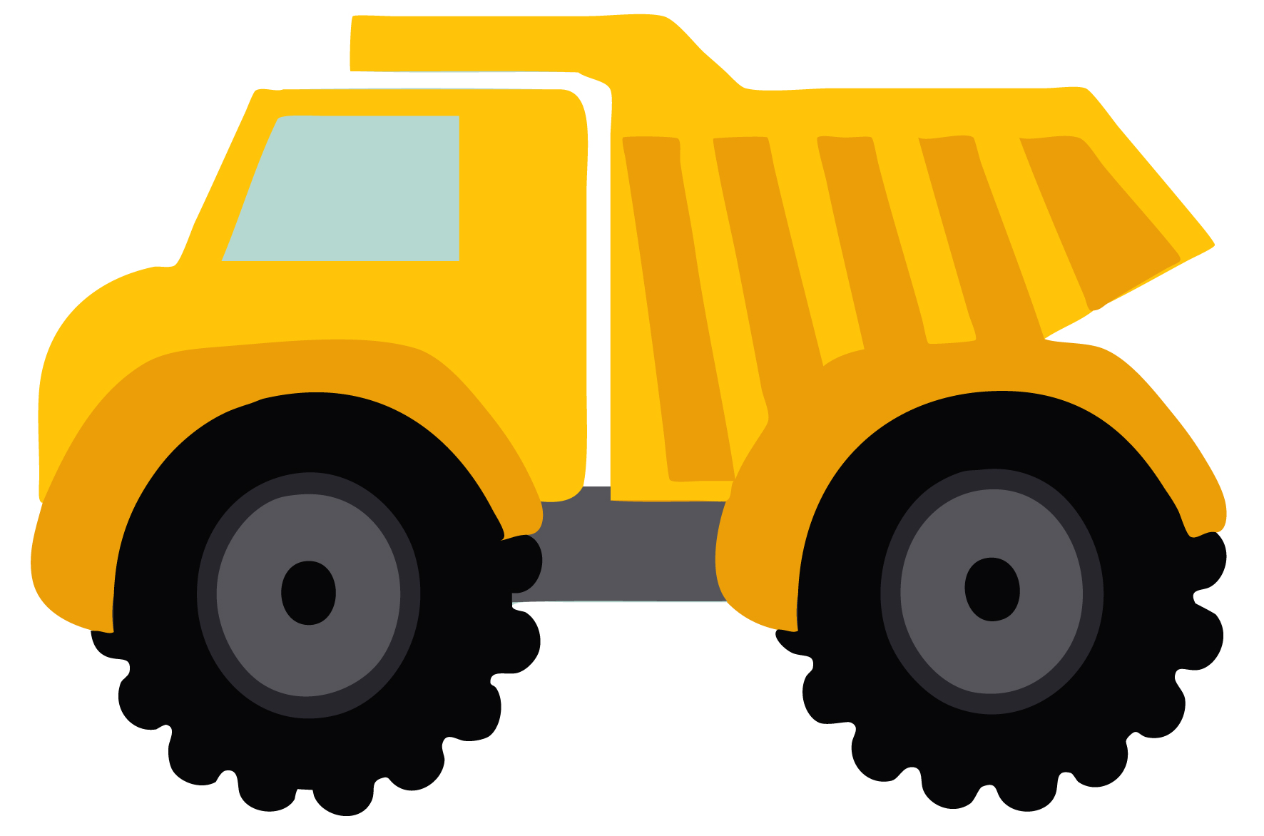 Dump Truck Clipart Black And White   Clipart Panda   Free Clipart