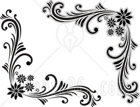 Ever Cool Wallpaper  Best And Beautiful Black And White Floral Corner