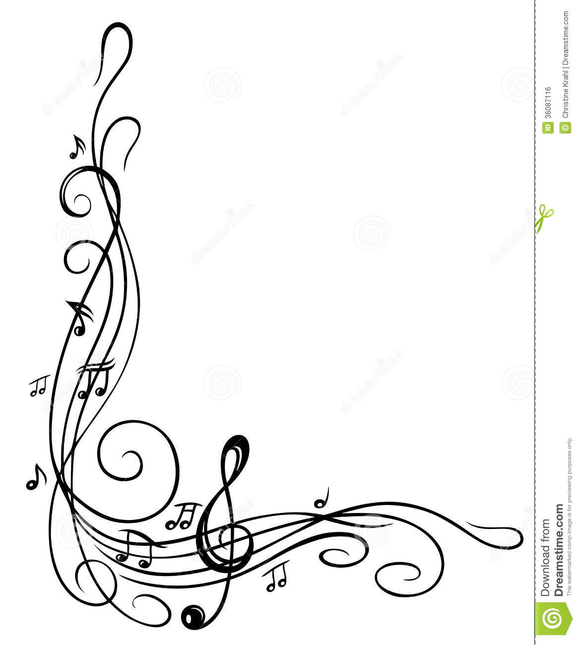 Free Clip Art Musical Notes Border Pix For Music Note Frame Clip