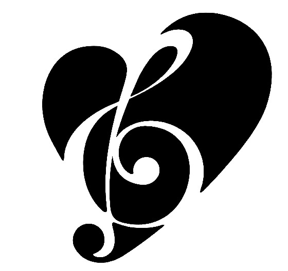 Heart Shaped Music Notes Simple Music Note Heart Jpg