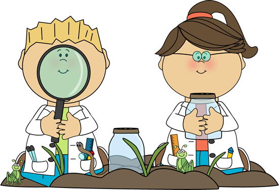 Kids In Science Class Clip Art   Kids In Science Class Vector Image