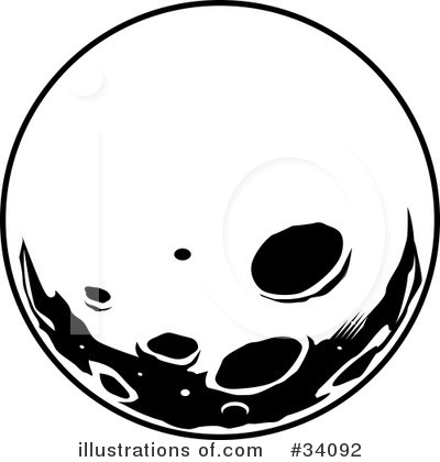 Clip Art Full Moon Clipart full moon black and white clipart kid 34092 illustration by lawrence christmas illustration