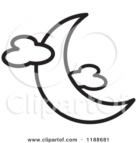 Moon Clipart Black And White 1188681 Clipart Of A Black And White