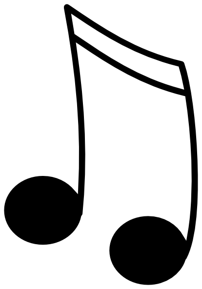 Music Notes Black And White 16th Notes Black W White Outline Hi Png