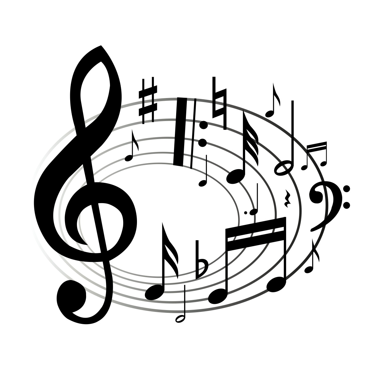 Music Black And White Clipart - Clipart Suggest