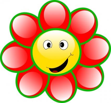Happy Smile Flower Clipart - Clipart Kid